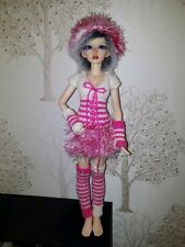 Clothes for BJD Minifee Doll (pink/white)