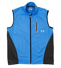 UNDER ARMOUR Vent UA RUNNING Mens BLUE 360° Reflectivity FITTED VEST NWT  M  $90