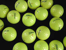 12 yellow Titleist DT Solo golf balls in near mint condition