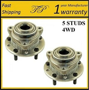 Front Wheel Hub Bearing Assembly For 90-96 CHEVROLET S10 4WD 2-wheel ABS (PAIR)