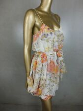 ZIMMERMANN DRESS :  FLORAL MIN DRESS : 100% SILK  : X SMALL  6- 8