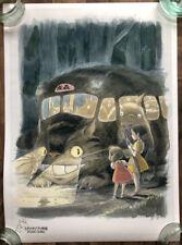 "*RARE* Studio Ghibli My Neighbor Totoro Cat Bus Giclée Art Print 23"" x 17"" Mondo"