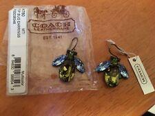 New Beautiful Coach Bee Bug Earrings