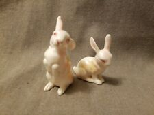 Pair of Small White Rabbits, Made in Japan Free Shipping