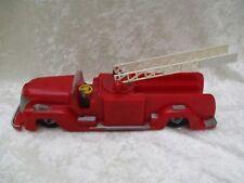 Vintage Saunders Tool & Die Plastic Wind-Up Fire Truck