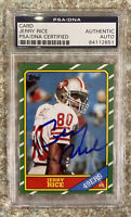 🔥Jerry Rice Signed 1986 Topps Football #161 RC Rookie HOF AUTO RP PSA/DNA🔥