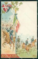 Militari Reggimentali VI Lancieri di Aosta Cervi cartolina XF2129