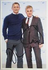 "Daniel Craig & Christoph Waltz  orig. Autogramm  "" Bond Girl 007 ""  Motiv 13x18"