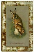 Cute Humanized Rabbit ~Spanks Baby Bunny~ Antique Easter Postcard- s-236