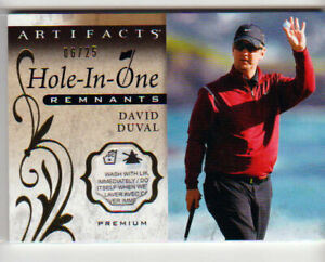 2021 UD Artifacts Golf DAVID DUVAL HOLE-IN-ONE PREMIUM PATCH RELIC /25!