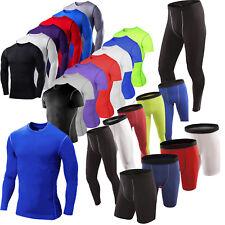 Мужские сжатия базовый слой тепловой тренажерный зал, топы, футболка легинсы, облегающие шорты брюки