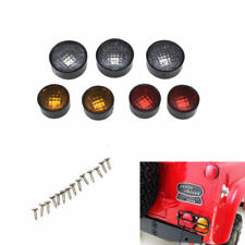 7 Pcs Round Rear Lamp Cups Cover Lampshade for 1/10 RC4WD D90 3mm LED Lights