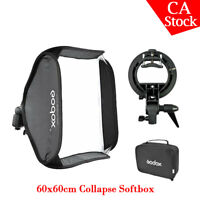 Godox S-Type Speedlite Camera Flash Bracket Bowens Mount 60x60cm Folding Softbox