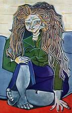 """1955 Original Picasso Vintage Colour Print """"Portrait"""" Book Plate"""