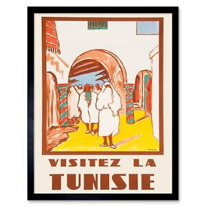 Travel Tourism Tunisia North Africa French People Building France Framed Print