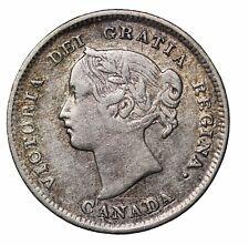 1898 Canada Silver  Five 5 Cents Queen Victoria Canadian British Coin KM#2