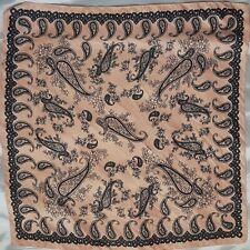 Bershka Melocotón Paisley Impresión Bufanda De Satén, Nuevo Sin Etiquetas