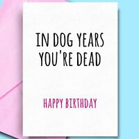 Birthday Greeting Cards For Girldfriend Uncle Son Sister Comedy Rude Fun