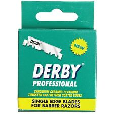 Derby Professional Single Edge Razor Blades 100 ea (Pack of 6)