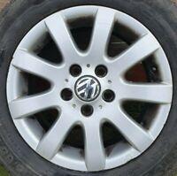 "Genuine VW Golf Touran 15"" Inch Alloy Wheel 6.5J ET50 1K0601025A 5x112"