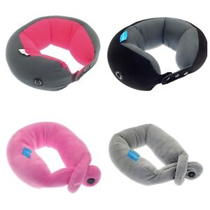 TRAVEL SUPERSOFT NECK PILLOW CUSHION MICROBEAD WITH VIBRATING NECK MASSAGE