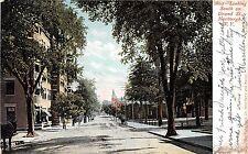 New York postcard Newburgh looking South on Grand St. 1906 street scene