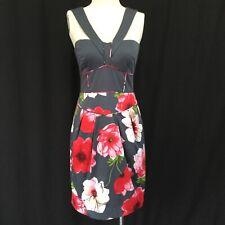 Anthropologie Sine Halter Dress gray red size 4