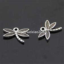 20pc retro Tibet Silver Animal Dragonfly Pendant Charm Beads accessories PL097