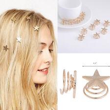 Hot 5pcs/Lot Wedding Bridal Gold Alloy Stars Spiral Hair Pin Clips Hairpin