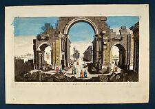 Palmira Sonnentempel Palmyra Palmire 1770 Guckkastenblatt Optical View Syrien