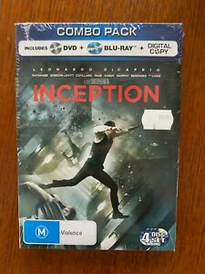 Inception Blu-ray Region Free New & Sealed Leonardo DiCaprio, Tom Hardy