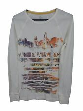 SO Womens Light Weight Sweater Size L Abstract Retro Beige New With Tags.