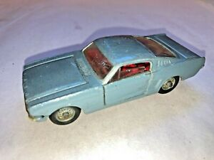Corgi Toys 320 Ford Mustang Fastback 2+2 In Silver With Dog in the back Window
