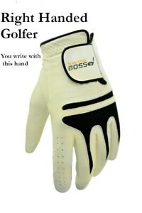 *READ LISTING* Cabretta Leather Golf Glove by Swing Boss for Right Handed Golfer