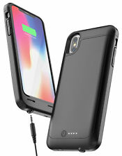 For iPhone X Battery Case with 3.5mm Headphone Jack Slim Charging Case (4600mAh)