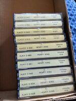 10 Henry King CASSETTE TAPE LOT SET 1-10 AJAX AJAZZ RARE RECORDINGS big band