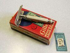 Vintage Gillette TECH Double Edge Safety Razor in Box Z-1 1954 NICE