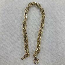 """14kt Milor Italy yellow gold chain bracelet 7"""" & 5.6g 🏞"""
