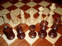 échec, pièces d'échiquier en bois, Staunton Nr 4