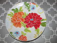 222 Fifth Huang Bright Floral 4 PC Set Round Mini Appetizer Dessert Plates