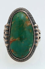 Navajo Sterling Silver Ring with Turquoise Size 6.5