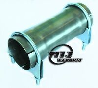 """2.5"""" 64mm Stainless Exhaust Pipe 200mm Long Connector Sleeve Joiner + 2x Clamps"""