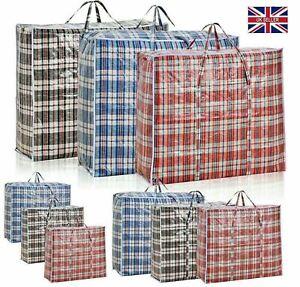 Large Jumbo Shopping Laundry Bags Zipped Reusable Strong Storage Bag 69x60x20cm