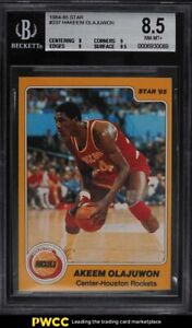 1984-85 Star Basketball Hakeem Olajuwon ROOKIE RC #237 BGS 8.5 NM-MT+
