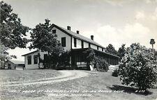 The Main Lodge, Idle Hurst Lodge, Big Round Lake, Hayward Wisconsin WI RPPC