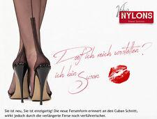 Nahtnylons verdadera costura inglesa medias, medias de nailon, Susan heel, talla 9 1/2 M