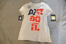 Nike Just Do It Red White Blue girls Shirt Size Small White USA Olympic 801067
