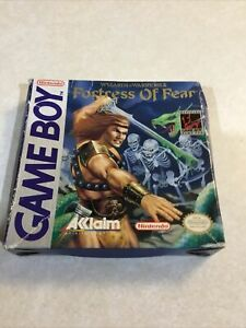 Nintendo Game Boy Wizards and Warriors X Fortress of Fear BOX ONLY