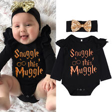 Newborn Baby Boys Girls Romper Bodysuit Jumpsuit Cotton Muggle Clothes Outfits