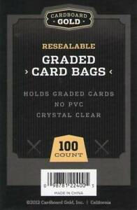 100 (1 Pack) Ultra CBG RESEALABLE GRADED CARD BAGS GB